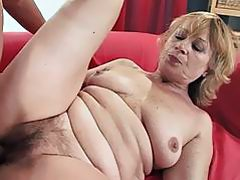 Hairy old granny gets her cunt slammed after long time