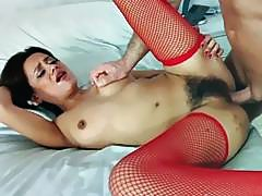 Selma Sins takes a big cock in her wet muff