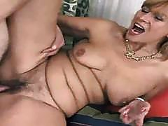 Horny mature gets her husbands lucky penis