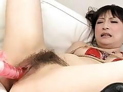 Babe in red lingerie Rika Sonohara made to swallow