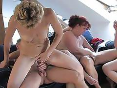 Hot mature whores fucking hard with a guy