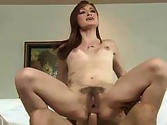 Redhead Teen Gets Her Hairy Pussy And Ass Fucked