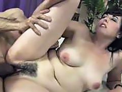 Natural hairy pussy prefers big hard cock